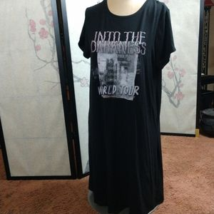 Torrid tshirt dress Into the Darkness rock tour 00